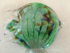 "Art Glass 4 1/2"" Aqua Green Angelfish, handmade by Bermuda artist Gayle Weyland"