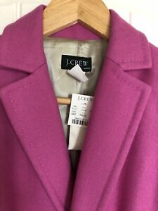 NEW J.CREW Pink Wool Classic Blazer Size 2 or Small