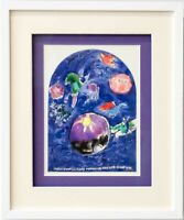 """Marc CHAGALL Lithograph LIMITED Ed. """"Simeon"""" + Cat .Ref.c49 w/Gallery Frame"""