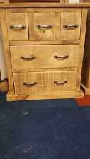 NEW SOLID WOOD RUSTIC CHUNKY WOODEN BABY CHEST OF DRAWERS HALLWAY STORAGE CHEST