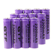 12x 3.7V 2300mAh 14500 GTL14500 AA Li-ion Rechargeable Battery for LED Torch