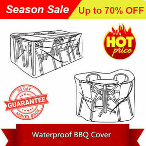 Water proof Patio UV Block Furniture Table Chairs Set Covers 280*170*85 Grey