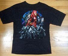 Marvel Avengers Assemble T-Shirt GREY (Hulk Iron Man L Capt. America) -  LG boys