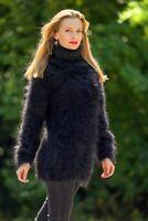 Mohair sweater turtleneck fuzzy top sexy tunic light fluffy jumper SUPERTANYA