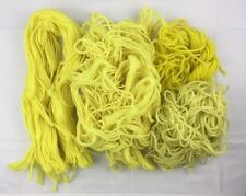 7.6 oz Lot Paternayan Persian Yarn Lemon Yellows 3 ply Wool Crewel Needlepoint