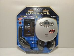 Jensen Portable CD Player ASP CD-345QCK Xtra Bass Car Kit Jogger Anti-Skip *NEW
