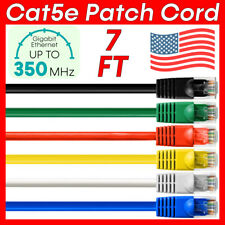 New Listing7 Ft Ethernet Cat5e Cable Rj45 Internet Router Cat5e Patch Cord Network Wire