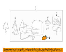 GM OEM Door Side Rear View Mirror-Mirror Assembly Cover Right 25861019