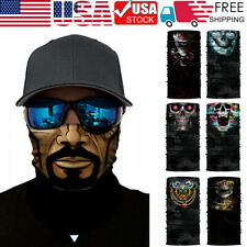 Skull Balaclava Face Mask Neck Tube Scarf Cover Tactical Gaiter Bandana Headwear