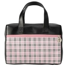 Plaid Pink Bible Leather-Look Cover - Medium