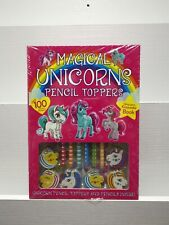 Magical Unicorns Pencil Toppers Keepsake Book