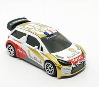 Majorette Citroen DS3 WRC Abu Dhabi no.1 1/58 245A no Package Free Display Box