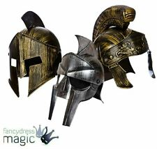 Mens Roman Centurion Spartan Gladiator Barbarian Warrior Fancy Dress Helmet Hat