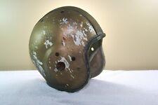 Vtg Antique Leather composite Suspension Game Used Football Helmet NOKONA