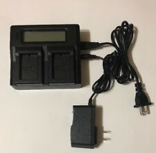 Dual LCD Battery Charger for 2 Sony Batteries