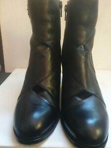 ❤ CHIE MIHARA Bebeto black leather ankle boots, UK 6.5 / EU 39.5, used once 💕