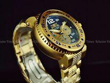 Invicta Men 52mm Pro Diver Combat Seal Chronograph 18KGIP Bracelet SS Watch 500m
