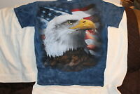 EAGLE AMERICAN FLAG OUTDOOR TYE DYE T-SHIRT