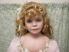 """Porcelain/cloth doll: BRIDESMAID by Donna Rubert for RUSTIE  26""""  #306 cp-733"""