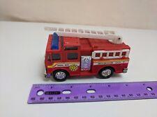 "Soma 1998 Red Fire Truck Mighty Wheels w/ Broken Ladder 4.5"" Long"