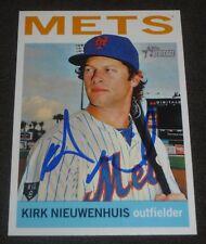 KIRK NIEUWENHUIS SIGNED 2013 TOPPS HERITAGE CARD #61 NEW YORK METS AUTO BASEBALL