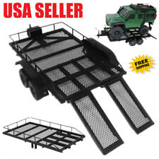 Us Trailer Heavy-Duty Trailer Cargo Carrier Metal Kit for 1/10 Rc4Wd Rc Car N0D9