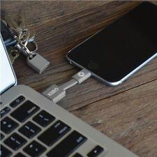 "Kero Nomad 3"" portatile LIGHTNING-USB Cavo PORTACHIAVI IPHONE APPLE CERTIFIED Grey"