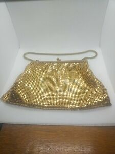 Gold Mesh Chainmaille Chain Mail Evening Bag Handbag