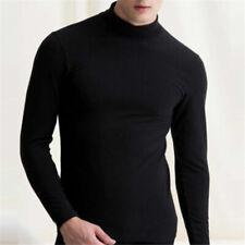 Camiseta de manga larga con cuello alto y camiseta de cuello alto para hombre