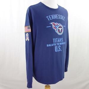 NFL Tennessee Titans Salute to Service Blue Graphic Nike Dri Fit T Shirt Sz 2XL