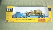 Caterpillar 12H Motor Grader on Peterbilt Tractor/Trailer