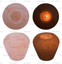 1 X VASE SHAPE HIMALAYAN ROCK SALT CRYSTAL CANDLE TEA LIGHT HOLDER AROUND 1 KG