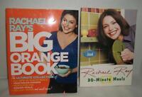 2 RACHAEL RAY Cookbooks 30 Minute Meals & Big Orange Book
