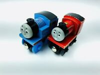 Wooden Thomas & James Early Engineer Train 2pc Lot Toddler Toy