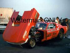 "Gaspar ""Gas"" Ronda 1967 Ford Mustang NITRO ""Flip Nose"" Funny Car Pit PHOTO!"
