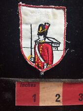 Vtg Circa 1970s/80s RED COAT SOLDIER-SWORD Patch Recovered From Old Jacket S75E