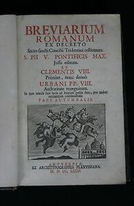 Breviarium Romanum, Pars Autumnalis, 1781