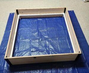 "Whelping Box Large 48"" x 48"" W /PVC Railing + LINER / Puppy Pen / Free shipping"