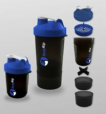 BodyRip 400-500Ml Protein Mixer Shaker Bottle Cup Whey Nutrition ⋐Blue⋑