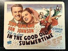 IN THE GOOD OLD SUMMERTIME 1949 ORIGINAL TITLE LOBBY CARD - JUDY GARLAND