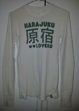 HARAJUKU LOVERS FLANNEL LONG SLEEVE WOMEN S SMALL A FATAL ATTRACTION TO CUTENESS