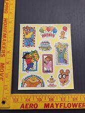 Vintage Arthur Stickers 1 sheet Pbs Marc Brown Buster Dw Binky Baby Kate 1997