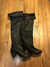 FREE PEOPLE BRANDI OVER THE KNEE TALL LEATHER BOOTS NEW SIZE 37