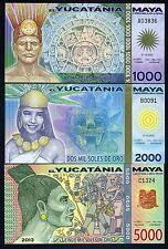 SET Maya, 1000;2000;5000 Soles De Oro, 2012-2013, Polymer, UNC