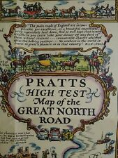 More details for antique pratts high test map of the great north road alfred e taylor 1930