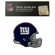New NFL New York Giants Color Aluminum Helmet 3-D Auto Emblem Sticker Decal