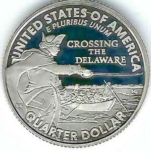 2021-S Washington Crossing The Delaware Clad Proof Quarter Cameo!