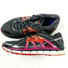 Brooks Mens GTS 17 Gray Orange Running Shoes Size 11 M