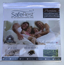 SafeRest Premium Hypoallergenic Waterproof Mattress Protector - Queen, White