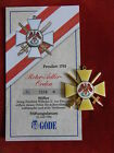 Göde Orden Preußen 1792 - Roter Adler Orden + Zertifikat Nr.1208
